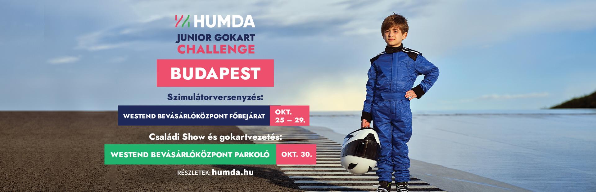 HUMDA Junior Gokart Challenge a Westend előtt