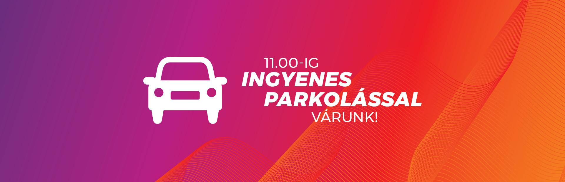 Januárban is ingyenes parkolással várunk!
