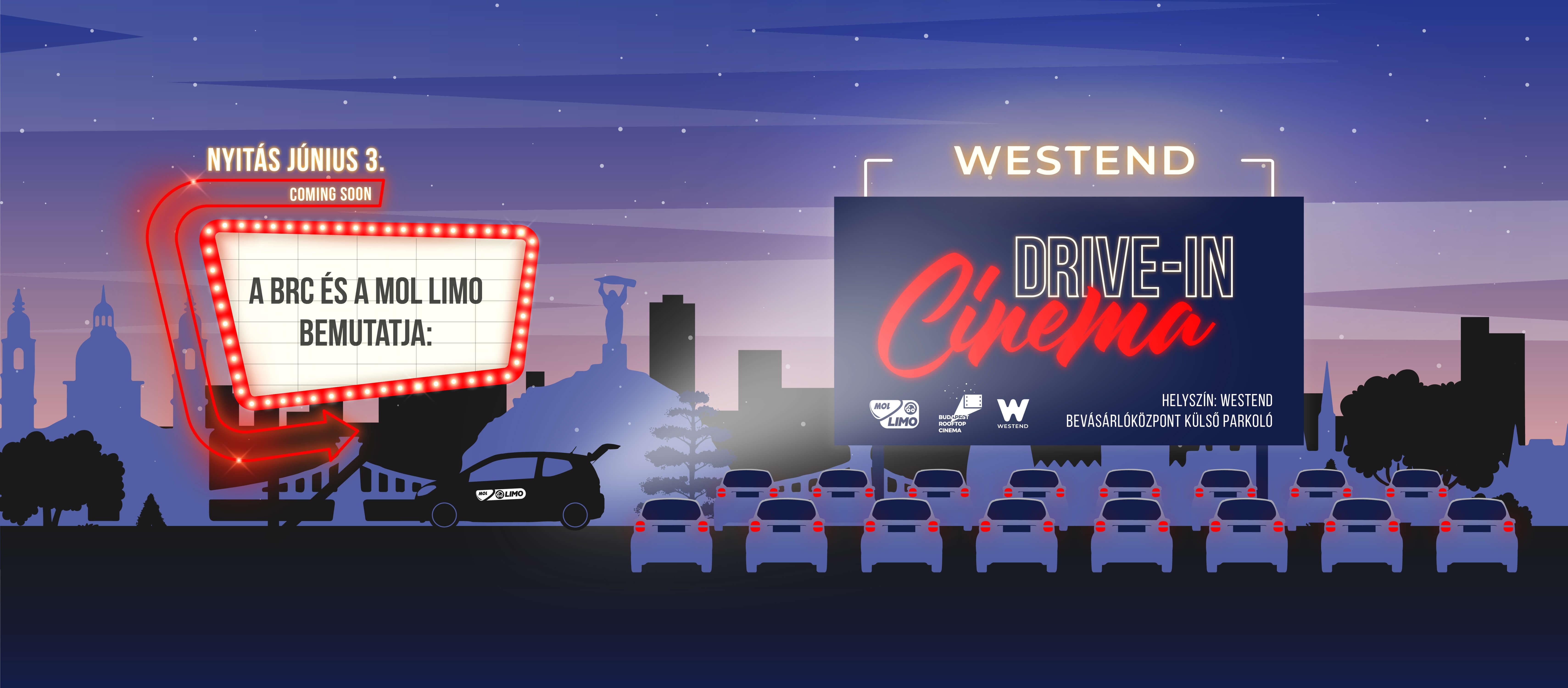 Június 3-án megnyitjuk a Westend Drive-In Cinemát!