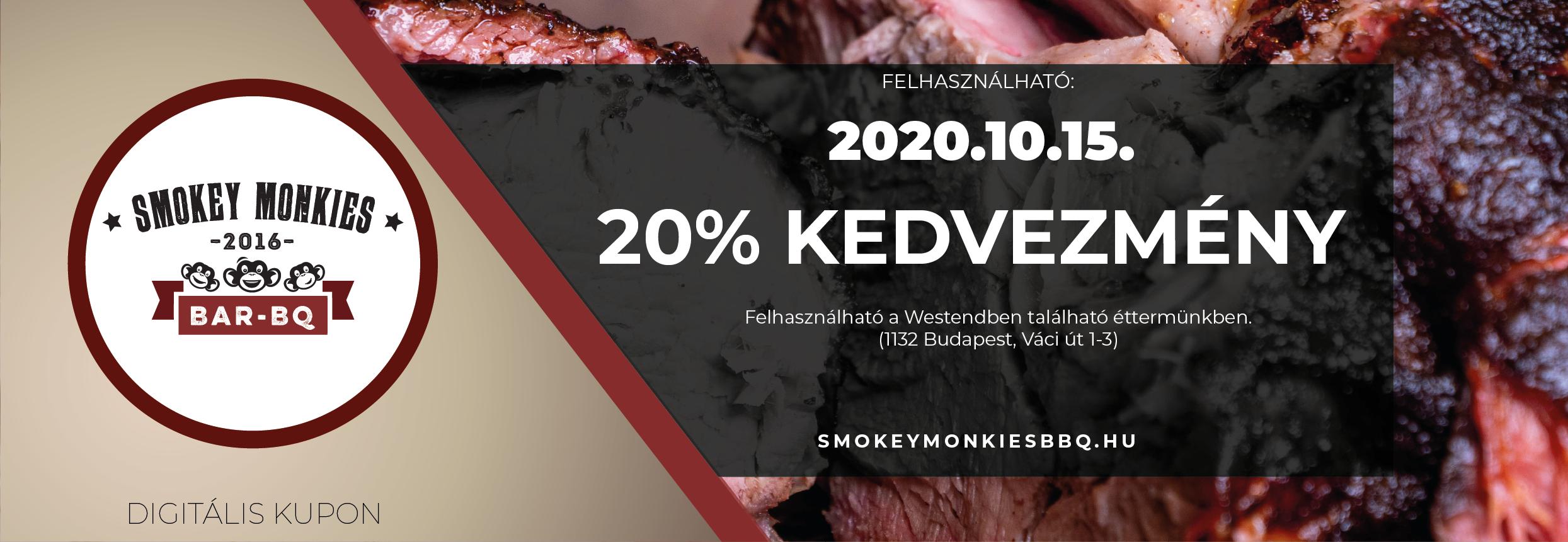 Nyitási kedvezménnyel vár a Smokey Monkies BBQ!